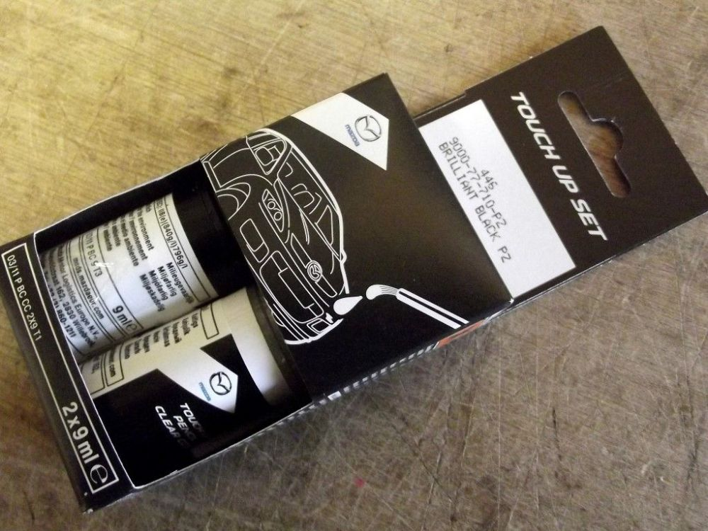 Paint touch up kit, genuine Mazda, PZ Brilliant Black